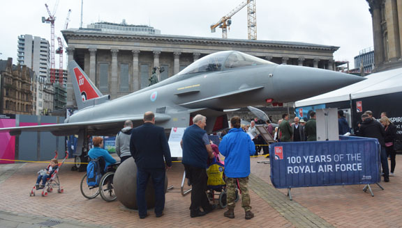 Royal Air Force Centenary, Victoria Square Birmingham UK