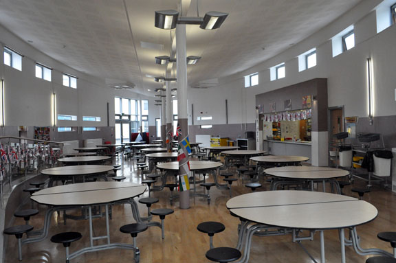 The inside of the