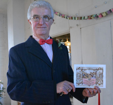 Guide with First Victorian Christmas Card