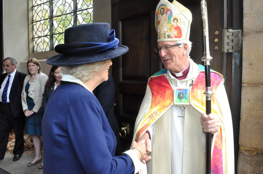 HRH Duchess of Cornwall meeting Bishop David, Bishop