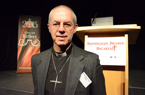 Revd Justin Welby, Archbishop of Canterbury