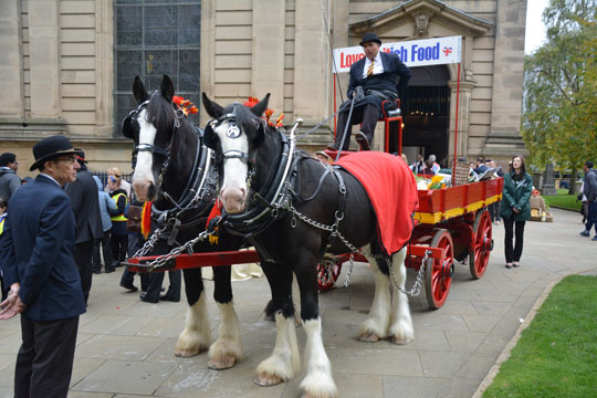 Ken Morris's 100 year old horse-drawn trolley