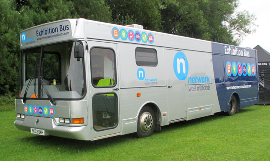 Network West Midlands Exhibition Bus