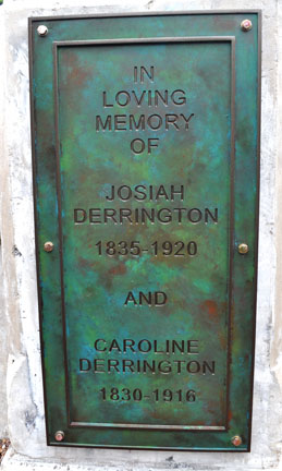 A new plaque to the Derrington family
