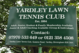 Yardley Lawn tennis